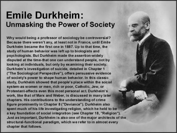 the life of emile durkheim essay Émile durkheim, a (1897), and the elementary forms of religious life this example Émile durkheim essay is published for educational and informational.